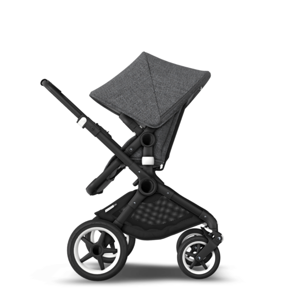 Bugaboo fox Kinderwagen - black/grey melange