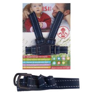 ISI Mini Veiligheidstuigje Met Looplijn - Donkerblauw
