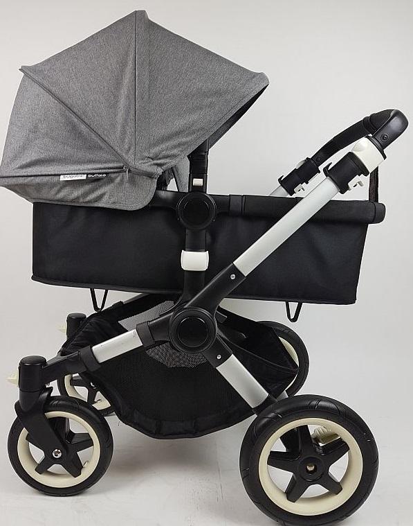 Bugaboo® buffalo kinderwagen - alu/black/grey melange