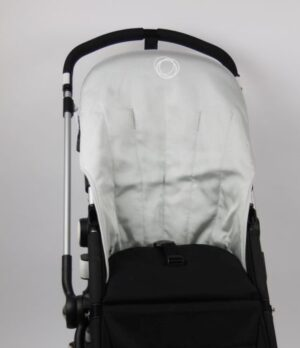Bugaboo® Cameleon Seat Liner - Metallic Silver Canvas