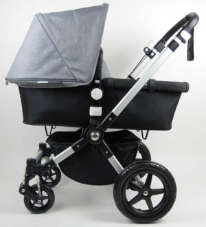Bugaboo® Cameleon3 Kinderwagen - Zwart - Gemêleerd Grijs