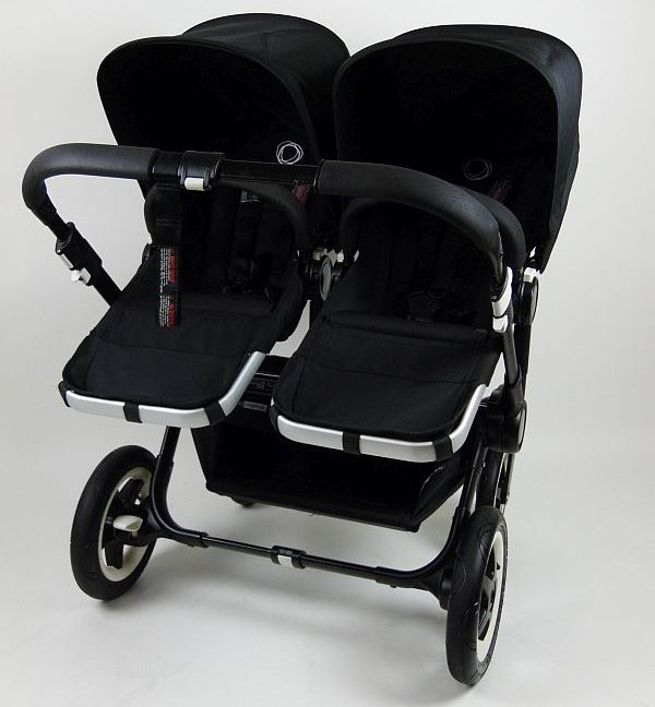 Bugaboo® Donkey Twin Kinderwagen - All Black