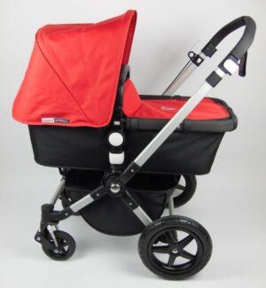 Bugaboo® Cameleon3 Kinderwagen - Zwart - Rood