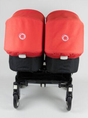 Bugaboo® Donkey Twin - Zwart - Rood