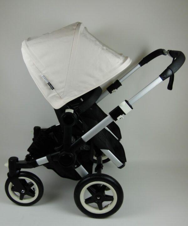 Bugaboo® Donkey Twin Kinderwagen - Zwart - Off White