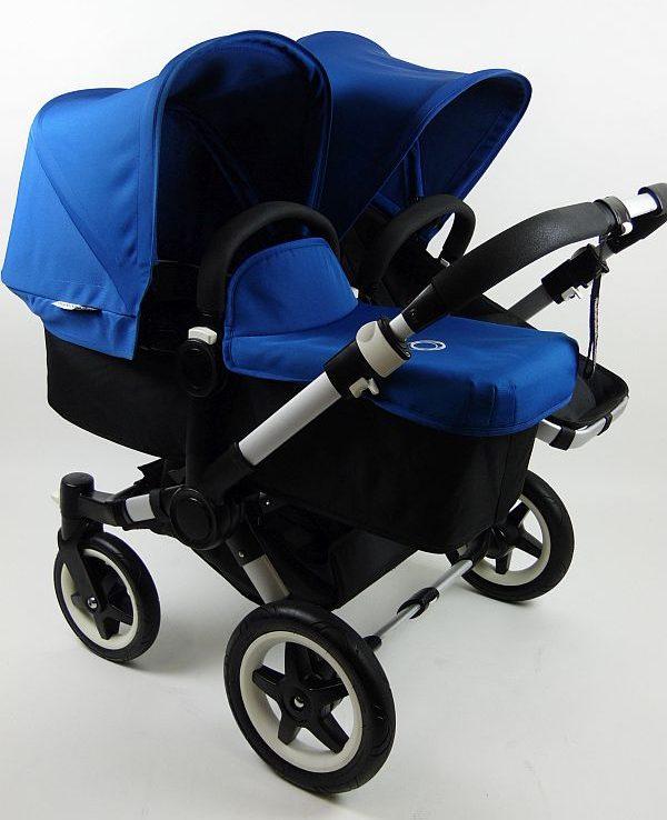 Bugaboo® Donkey Duo Kinderwagen - Zwart/Koningsblauw