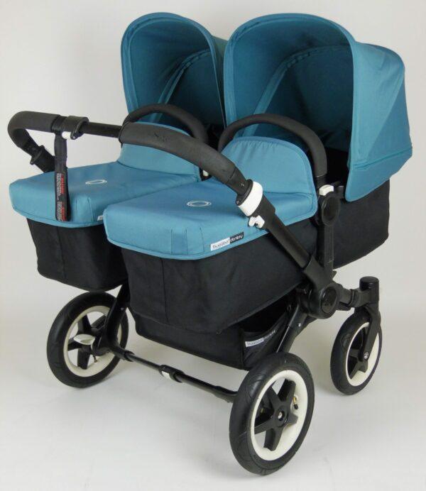 Bugaboo® Donkey Twin - Zwart/Petrolblauw