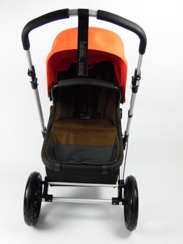 Bugaboo® cameleon 3 kinderwagen - donkerbruin - oranje
