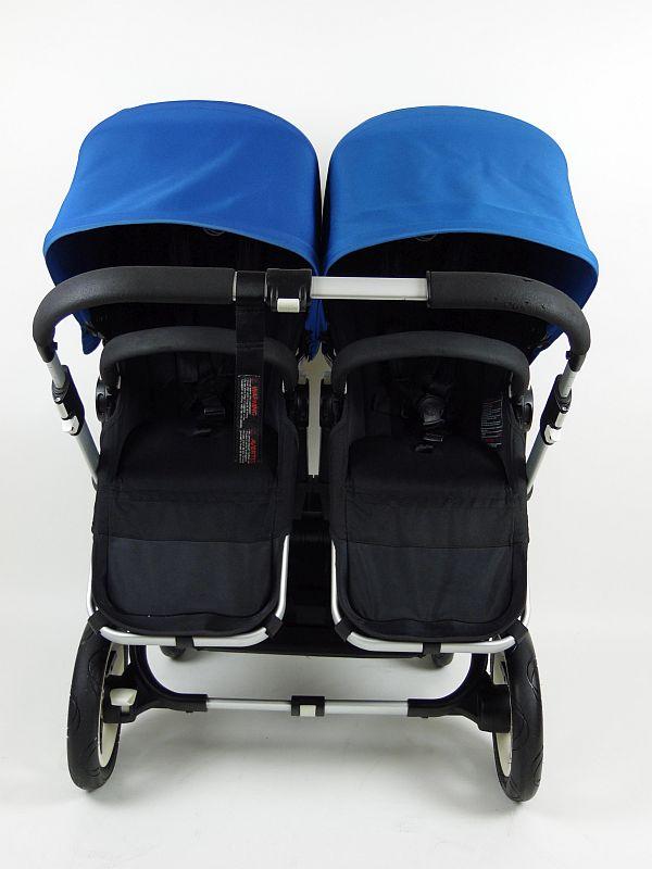 Bugaboo® Donkey Twin Kinderwagen – Zwart – Koningsblauw