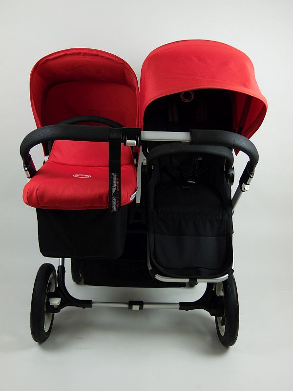 Bugaboo® Donkey Duo Kinderwagen – Zwart/Rood