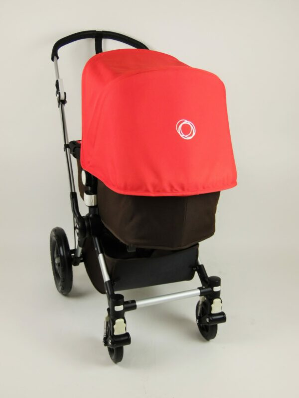 Bugaboo® cameleon 3 kinderwagen - donkerbruin - rood