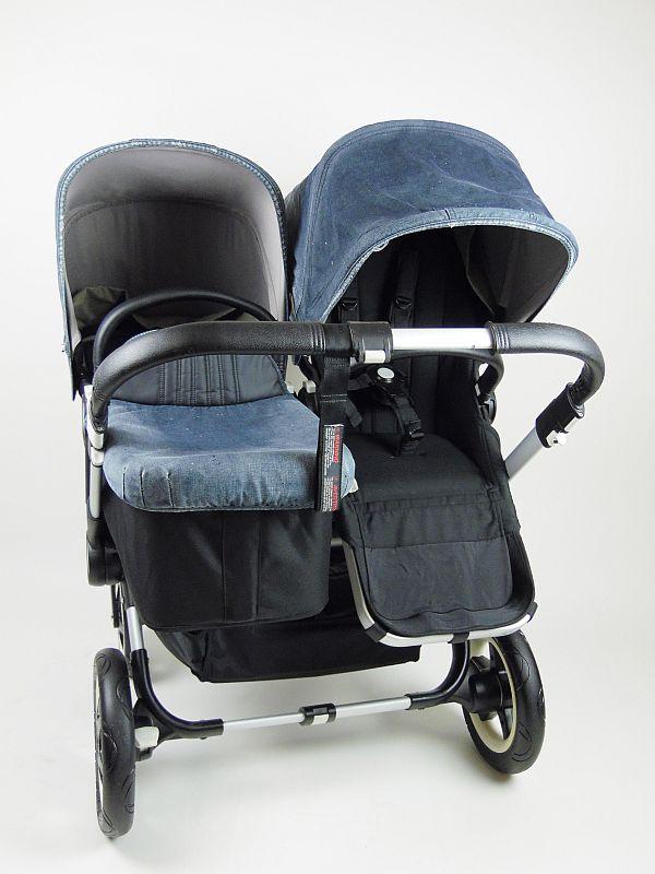 Bugaboo® Donkey Duo Kinderwagen - Zwart/Diesel