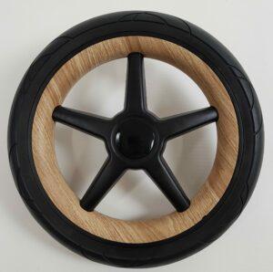 Bugaboo® fox achterwiel zwart - wood