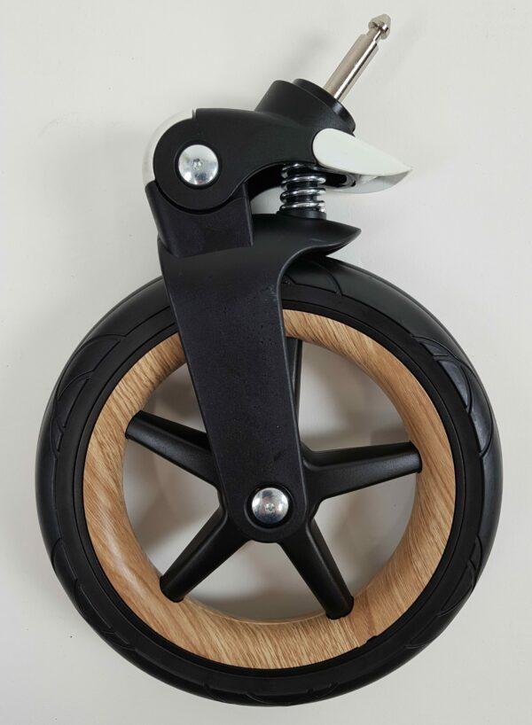 Bugaboo® fox voorzwenkwiel zwart - wood