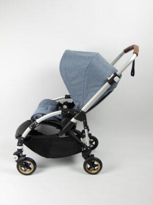Bugaboo® bee 5 kinderwagen met stoel - aluminium - blue melange