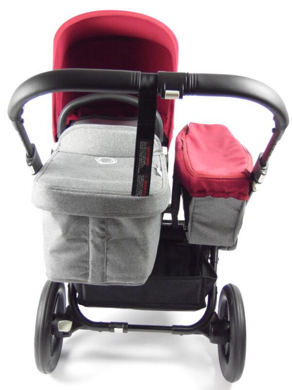 Bugaboo® donkey mono kinderwagen - black/grey/red