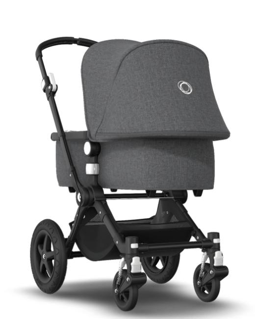 Bugaboo® cameleon 3 plus kinderwagen - black/grey melange/grey melange