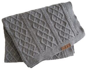 Bugaboo® zachte wollen deken - grey melange