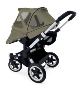 Bugaboo® donkey breezy zonnekap - dark khaki
