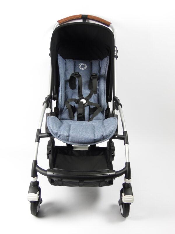 Bugaboo® bee 5 kinderwagen met stoel - aluminium - blue - black