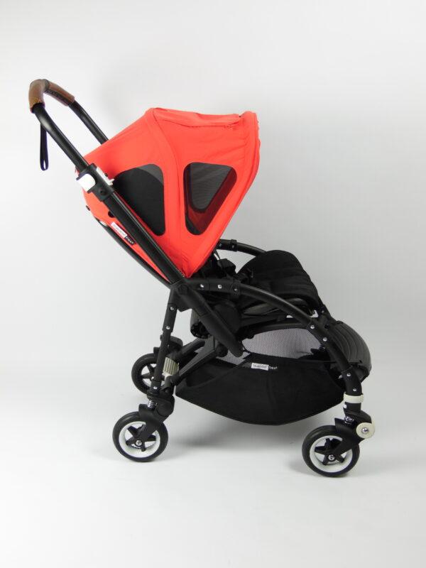 Bugaboo® bee 5 kinderwagen met stoel - black - black - neon red