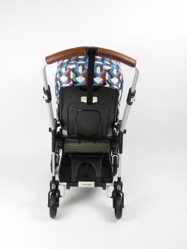 Bugaboo® bee 5 kinderwagen met stoel - aluminium - red - waves