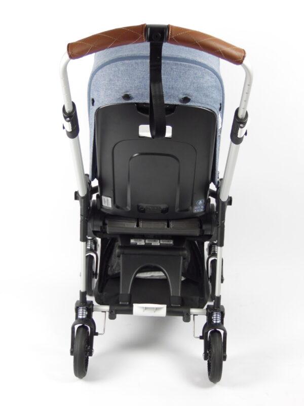 Bugaboo® bee 5 kinderwagen met stoel en wieg - aluminium - blue melange