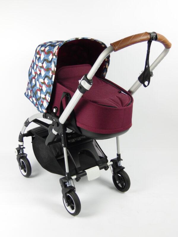 Bugaboo® bee 5 kinderwagen met stoel en wieg - aluminium - red - waves