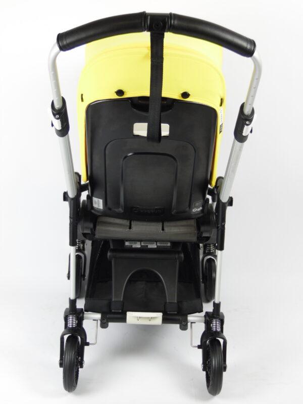Bugaboo® bee 5 kinderwagen met stoel - aluminium - steelblue - yellow