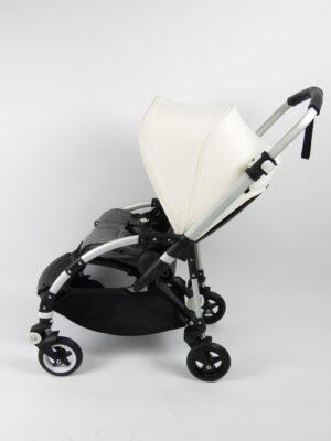 Bugaboo® bee 5 kinderwagen met stoel - aluminium - grey melange - off white