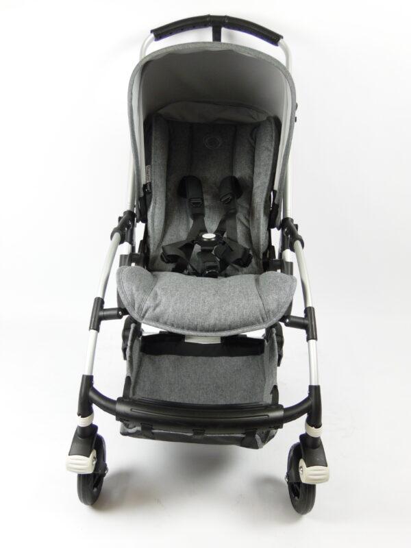 Bugaboo® bee 5 kinderwagen met stoel - aluminium - grey melange