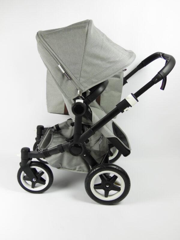 Bugaboo® donkey2 mono kinderwagen - black/mineral light grey