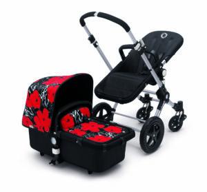 Bugaboo® cameleon3 kinderwagen - alu/black/flowers