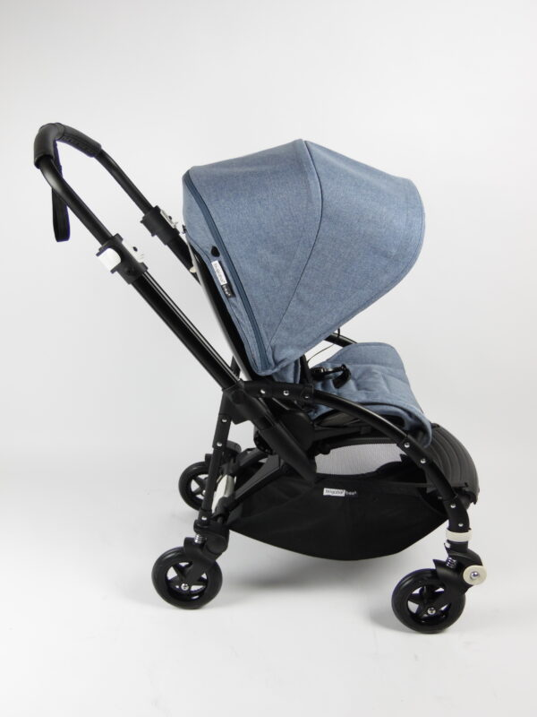 Bugaboo® bee 5 kinderwagen met stoel - black/blue melange