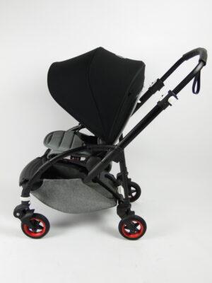 Bugaboo® bee 5 kinderwagen met stoel - black/grey/black