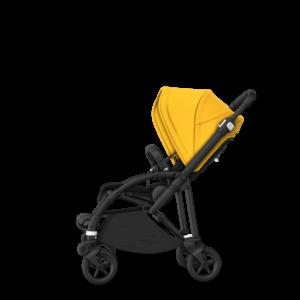 Bugaboo® bee 6 kinderwagen met stoel - black/lemon yellow