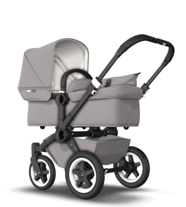 Bugaboo® donkey 2 mono kinderwagen - black/mineral light grey