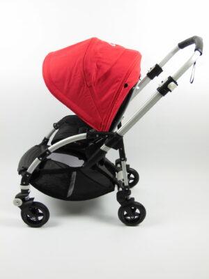 Bugaboo® bee 5 kinderwagen met stoel - alu/black/red